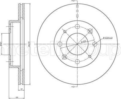 Metelli 23-0176 - Bremžu diski interparts.lv