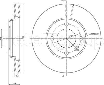 Metelli 23-0170 - Bremžu diski interparts.lv