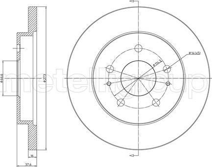 Metelli 23-0841 - Bremžu diski interparts.lv