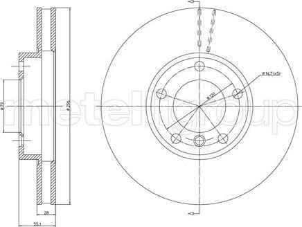 Metelli 23-0808 - Bremžu diski interparts.lv