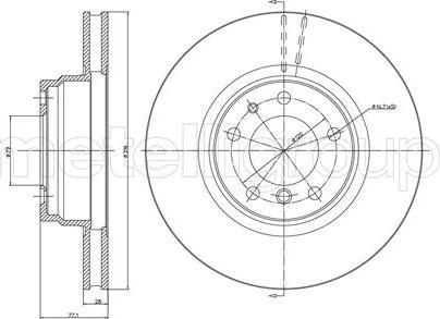Metelli 23-0399 - Bremžu diski interparts.lv