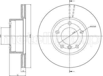 Metelli 23-0396C - Bremžu diski interparts.lv