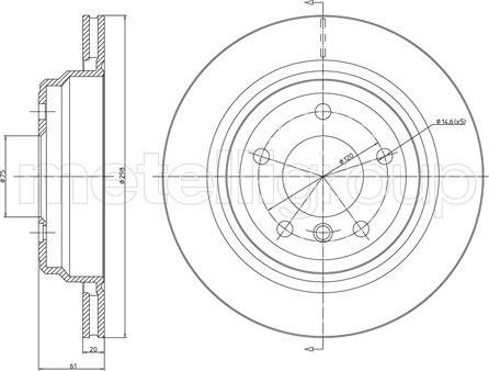 Metelli 23-0398C - Bremžu diski interparts.lv