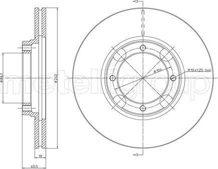Metelli 23-0393 - Bremžu diski interparts.lv