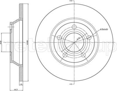 Metelli 23-0392C - Bremžu diski interparts.lv