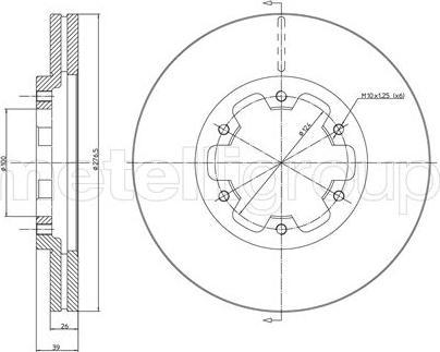 Metelli 23-0349 - Bremžu diski interparts.lv