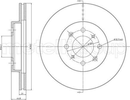 Metelli 23-0344C - Bremžu diski interparts.lv