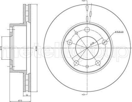 Metelli 23-0340 - Bremžu diski interparts.lv