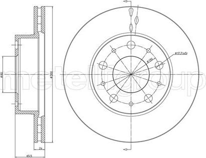 Metelli 23-0341 - Bremžu diski interparts.lv