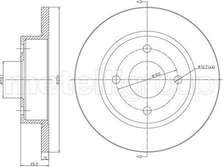 Metelli 23-0348 - Bremžu diski interparts.lv