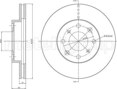 Metelli 23-0343 - Bremžu diski interparts.lv