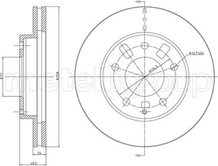 Metelli 23-0347 - Bremžu diski interparts.lv