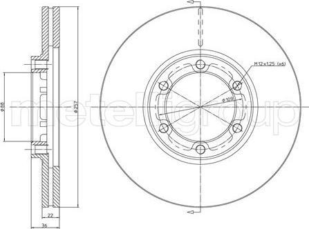 Metelli 23-0351 - Bremžu diski interparts.lv