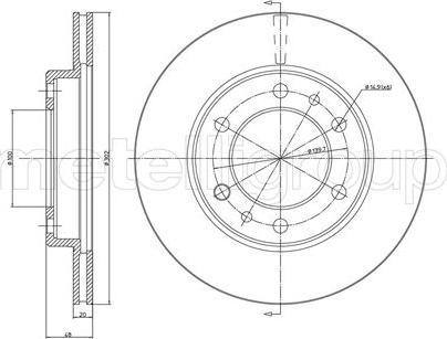 Metelli 23-0364 - Bremžu diski interparts.lv