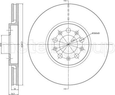 Metelli 23-0365C - Bremžu diski interparts.lv