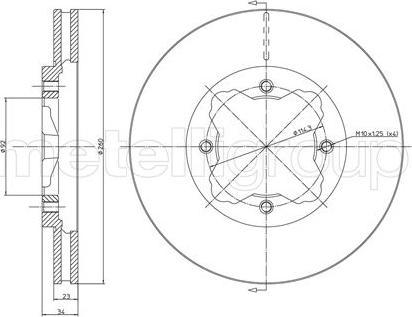 Metelli 23-0360 - Bremžu diski interparts.lv