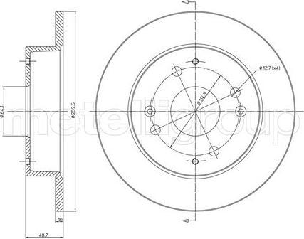 Metelli 23-0361 - Bremžu diski interparts.lv