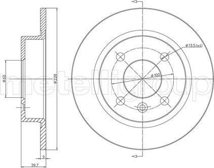 Metelli 23-0309 - Bremžu diski interparts.lv