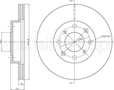 Metelli 23-0306 - Bremžu diski interparts.lv