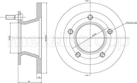 Metelli 23-0308 - Bremžu diski interparts.lv