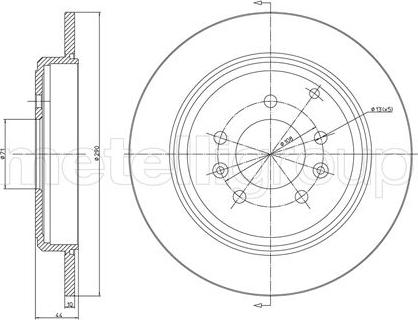 Metelli 23-0303 - Bremžu diski interparts.lv
