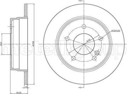 Metelli 23-0315C - Bremžu diski interparts.lv