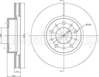 Metelli 23-0310 - Bremžu diski interparts.lv