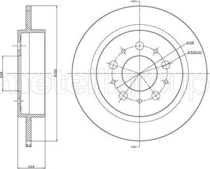 Metelli 23-0311 - Bremžu diski interparts.lv