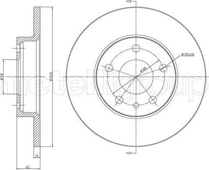 Metelli 23-0388C - Bremžu diski interparts.lv