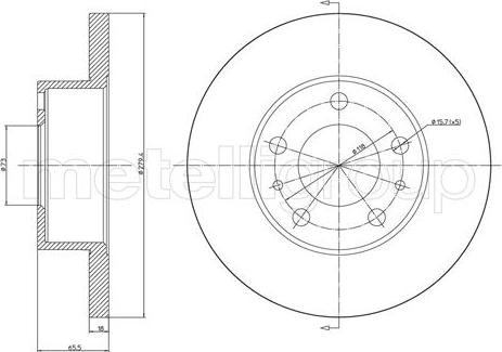 Metelli 23-0339 - Bremžu diski interparts.lv