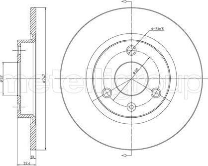 Metelli 23-0334 - Bremžu diski interparts.lv