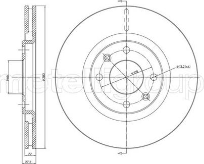 Metelli 23-0336 - Bremžu diski interparts.lv