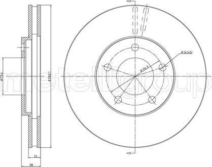 Metelli 23-0331 - Bremžu diski interparts.lv