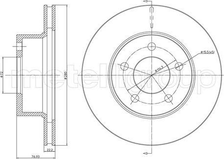 Metelli 23-0332 - Bremžu diski interparts.lv
