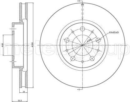 Metelli 23-0375C - Bremžu diski interparts.lv