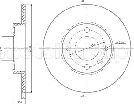 Metelli 23-0371 - Bremžu diski interparts.lv