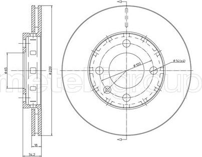 Metelli 23-0372 - Bremžu diski interparts.lv