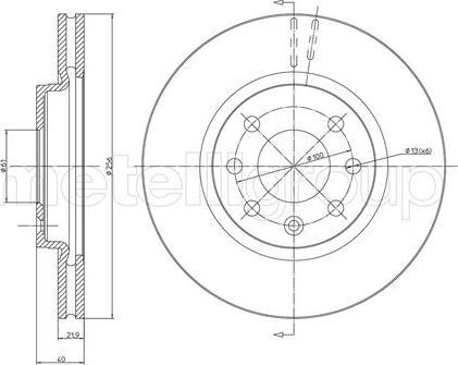 Metelli 23-0294 - Bremžu diski interparts.lv