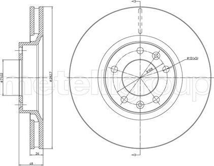 Metelli 23-0295 - Bremžu diski interparts.lv