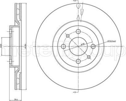 Metelli 23-0298C - Bremžu diski interparts.lv