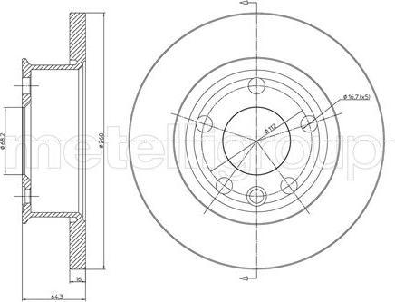 Metelli 23-0293 - Bremžu diski interparts.lv