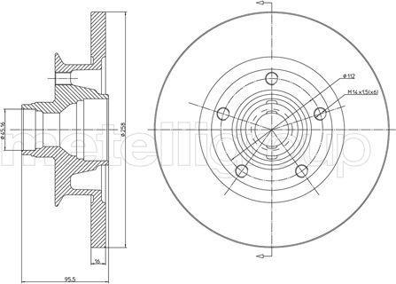 Metelli 23-0292 - Bremžu diski interparts.lv
