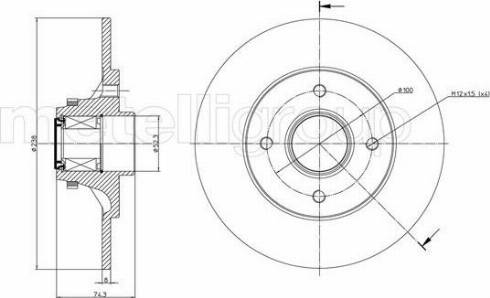 Metelli 23-0243 - Bremžu diski interparts.lv