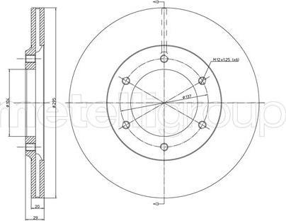 Metelli 23-0247 - Bremžu diski interparts.lv