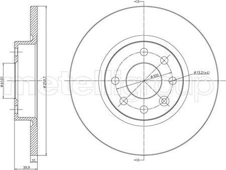 Metelli 23-0260 - Bremžu diski interparts.lv