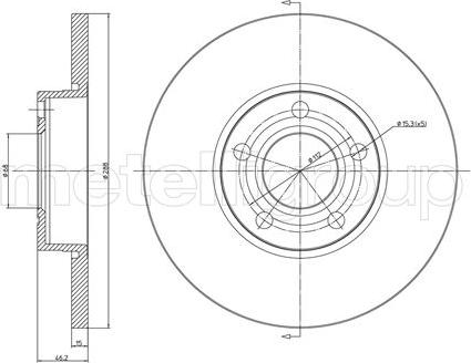 Metelli 23-0263 - Bremžu diski interparts.lv