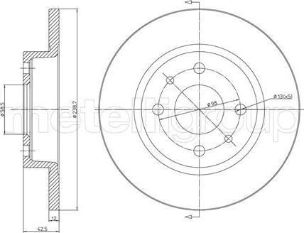 Metelli 23-0205 - Bremžu diski interparts.lv