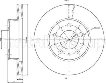 Metelli 23-0200 - Bremžu diski interparts.lv