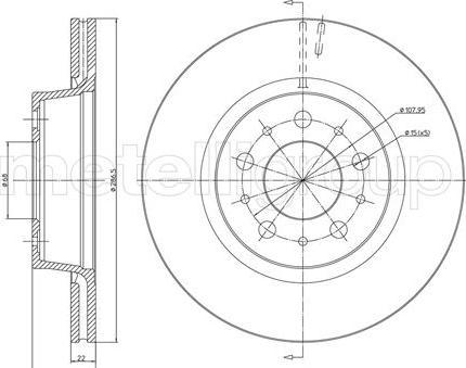 Metelli 23-0201 - Bremžu diski interparts.lv