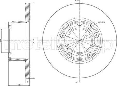 Metelli 23-0210 - Bremžu diski interparts.lv